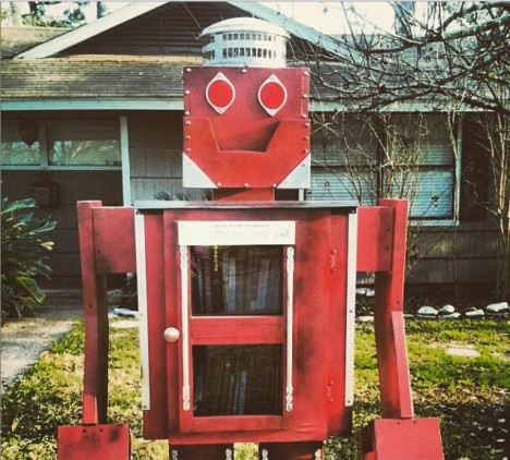 robot little free library