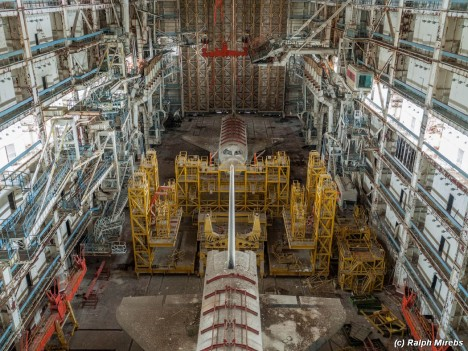 space shuttle abandoned interior