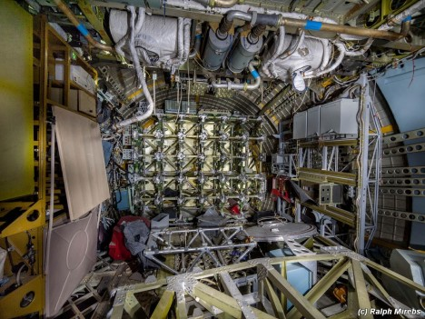 space shuttle interior debris