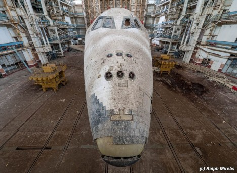 space shuttle nose view