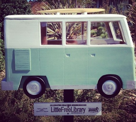 surf van little free library