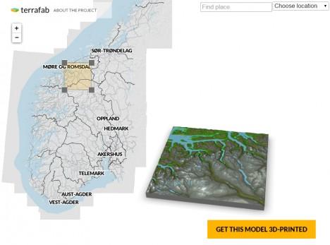 terrafab 3d printed landscape