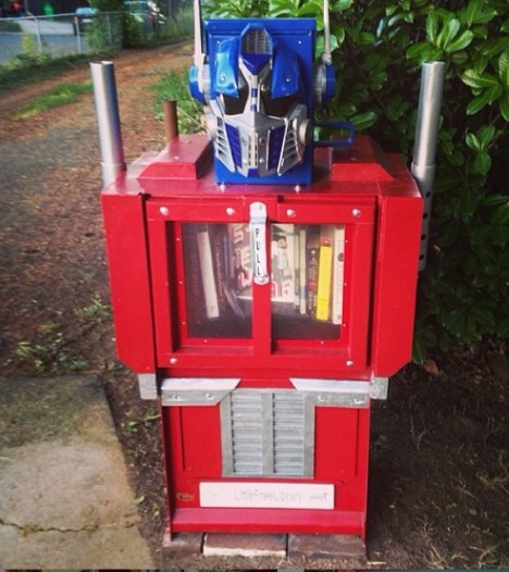 transformers little free library