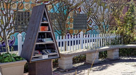 triangular little free library