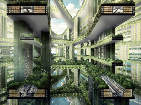Vertical Cities Singapore Futuristic 2