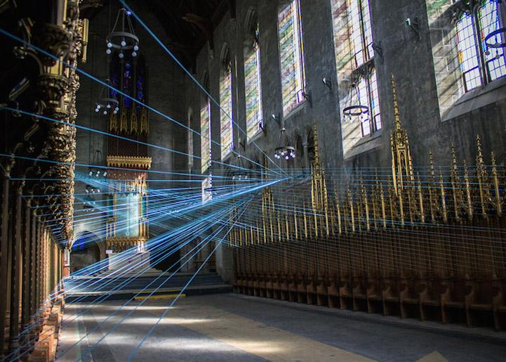 Light Lines Stunning String Installation Inside Abandoned
