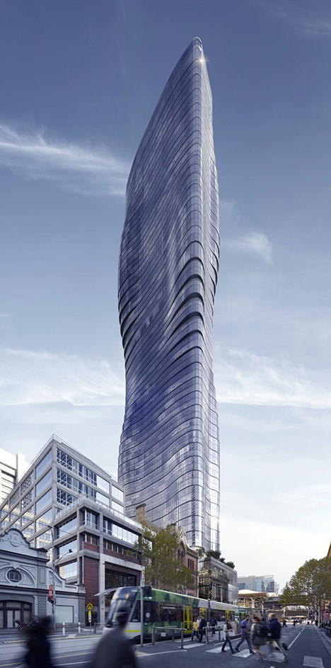 curved skyscraper appearance