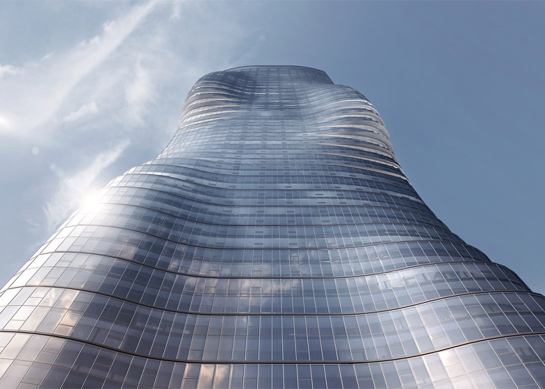 curved skyscraper shapely tower