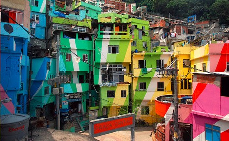 favelas painted
