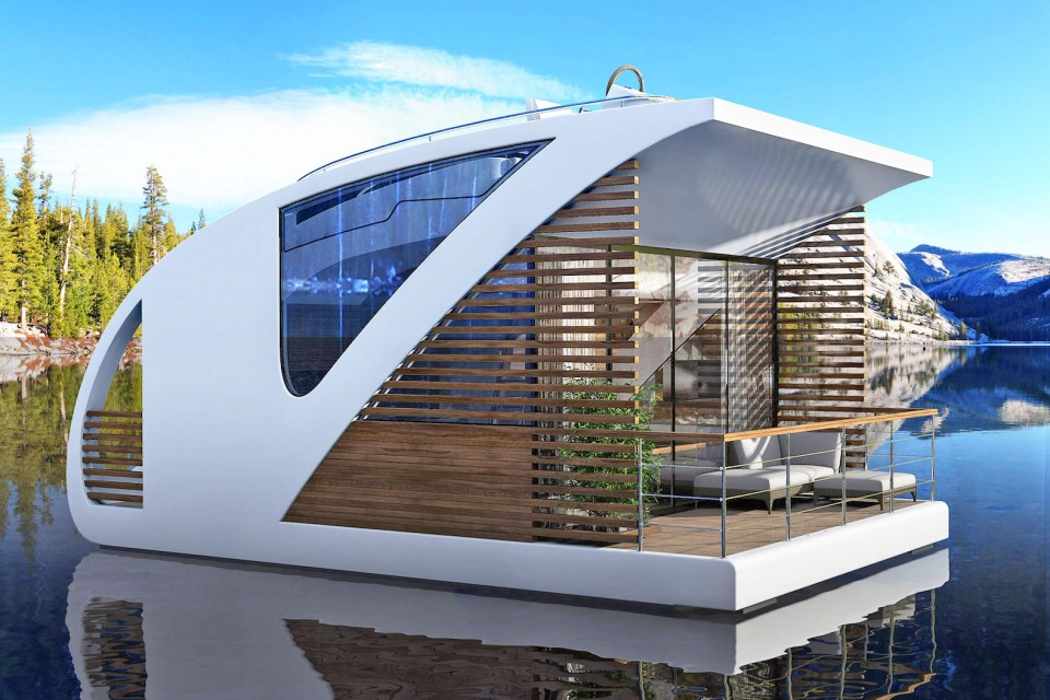 Hotel Designs floatel: modular floating hotel rooms provide portable privacy