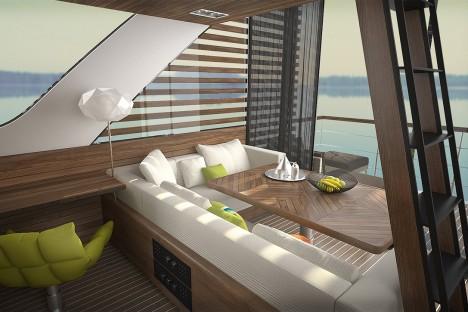 floating hotel living deck