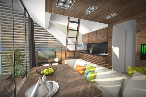 floating hotel room interior