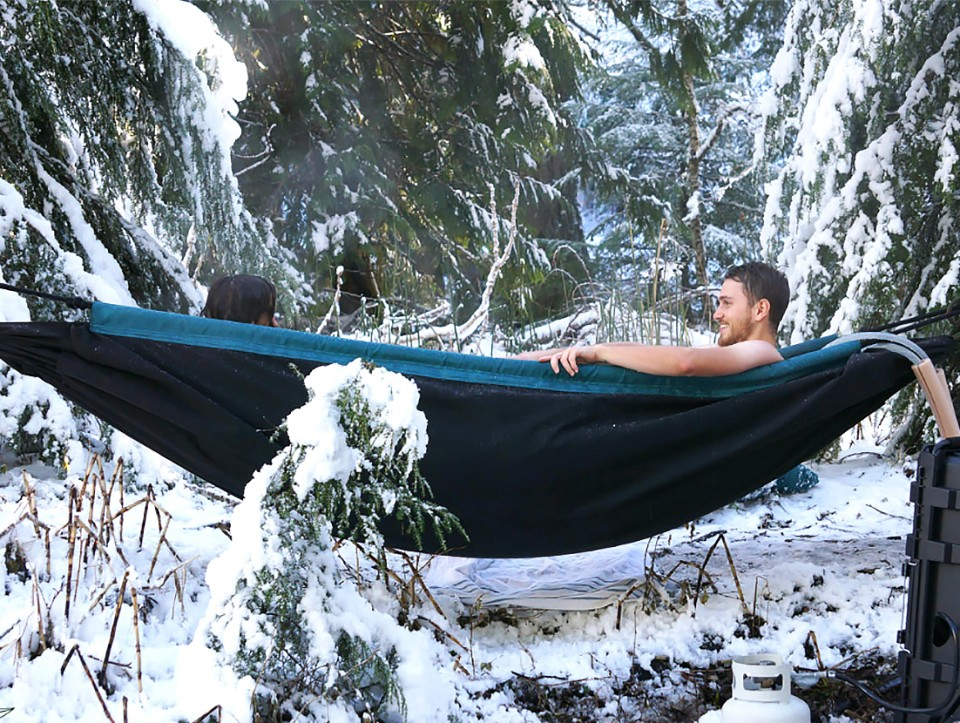 Hydro Hammock: Traveling Hot Tub Can Be Hung Up or Buried Below ...
