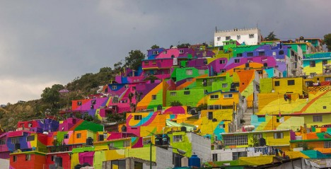 painted town hillside