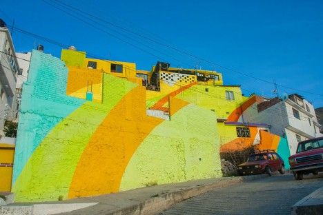painted wall house closeup