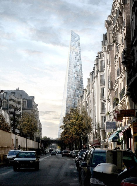 paris tour triangle tower