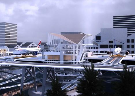 raised elevated plane system