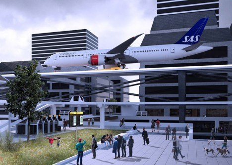 raised urban airport design