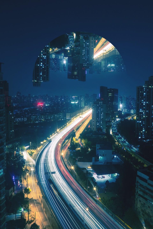 reflected urban setting context