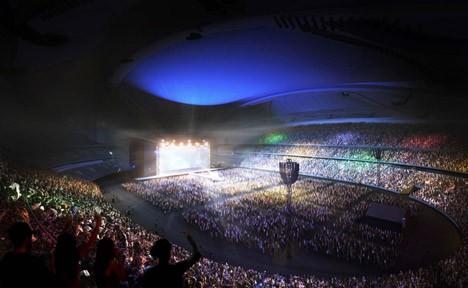 tokyo stadium at night