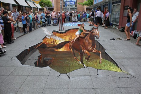 3D sidewalk mural 1