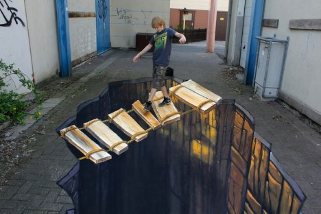 3D sidewalk mural 2