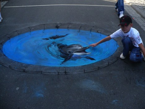 3D sidewalk mural 3