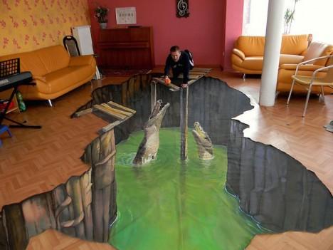 3D sidewalk mural 4