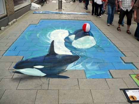 3D sidewalk mural 7