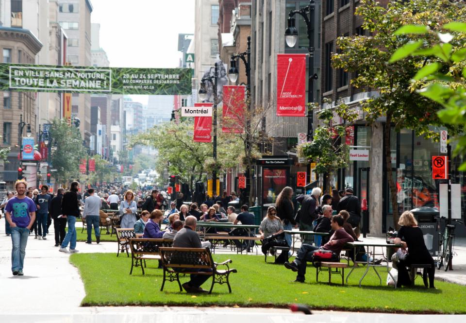 car free parks pedestrians