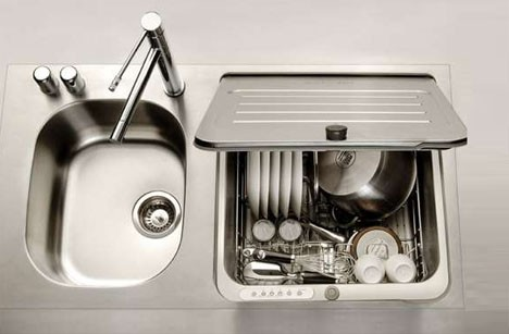 compact apartment dish sink