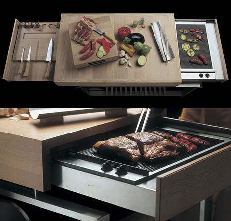 compact apartment mobile barbecue island 2