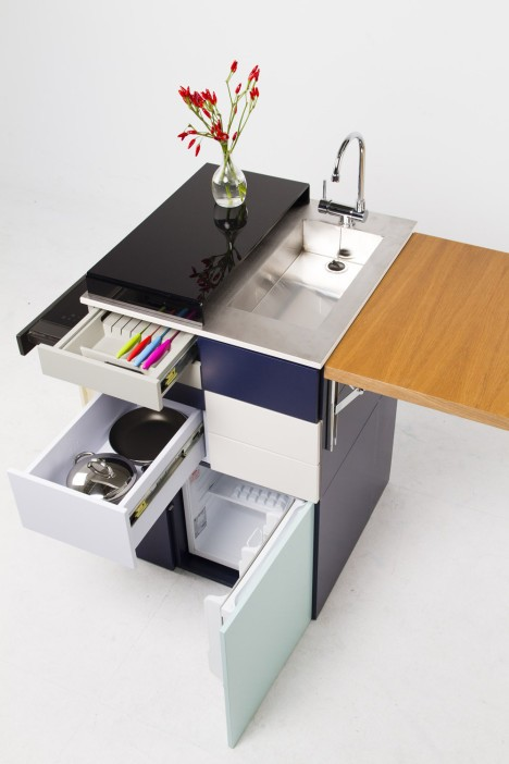 compact apartment modular kitchen 2