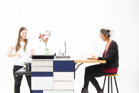 compact apartment modular kitchen