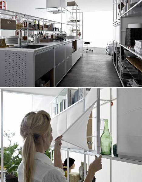 customizable open framework kitchen 2
