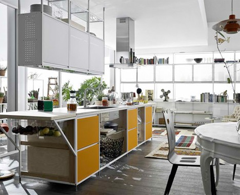 customizable open framework kitchen