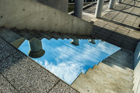 mirror art sky stairs 2
