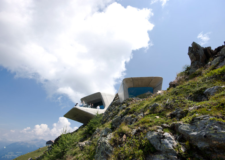mountain museum overhang