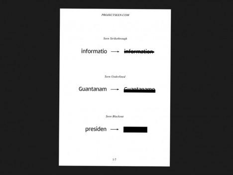 seen font blackouts