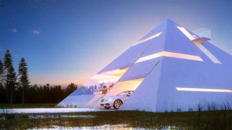 spaceship pyramid house 2