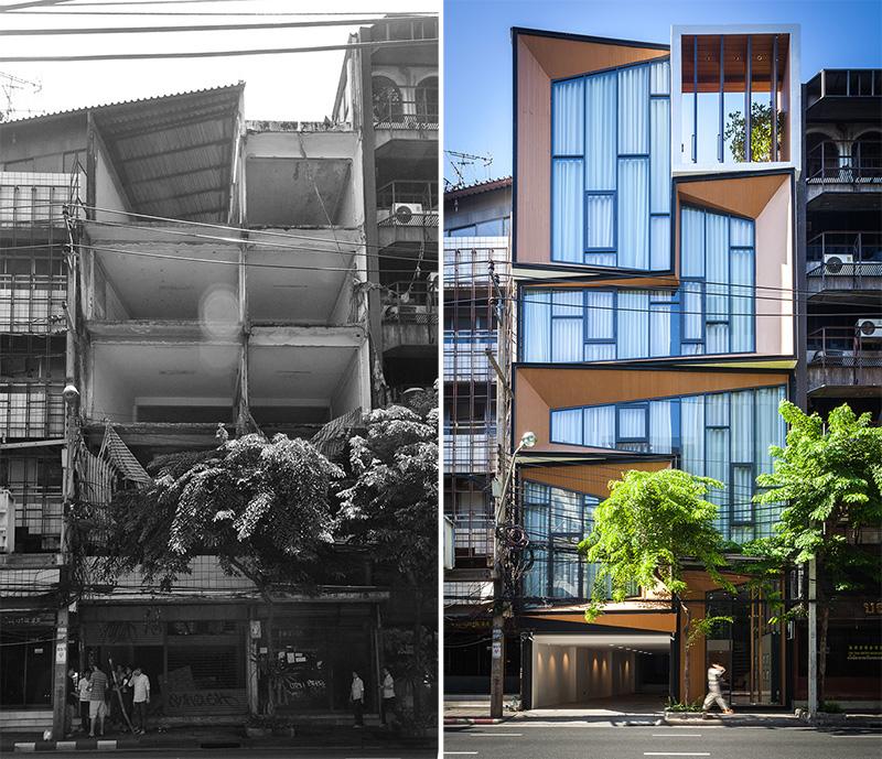 Facade Lift: Abandoned Commercial Building Reborn As Mixed