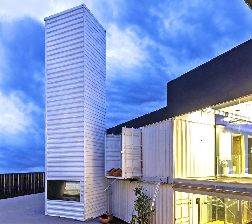 Shipping Container Architecture: 40-Foot Cargo Container Turned Into World's Tallest