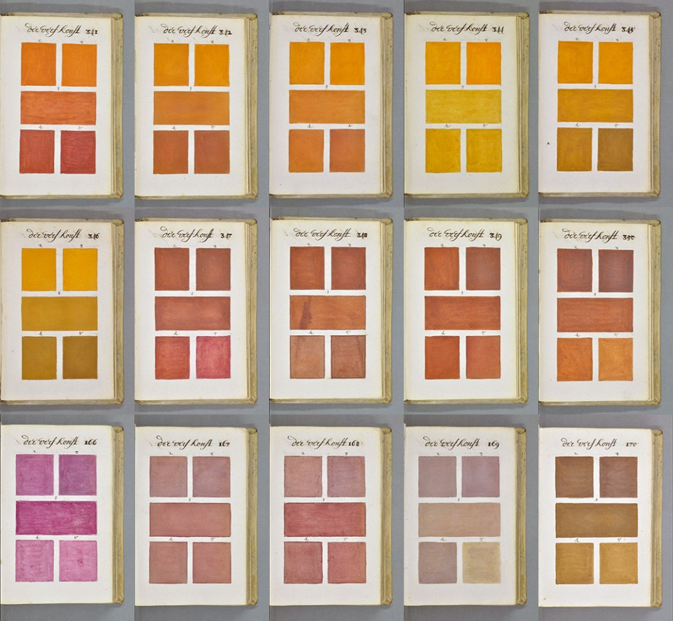 Proto-Pantone: 800-Page Color Palette Guide Book Hand-Drawn in 1600s ...