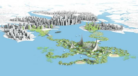floating city on the water
