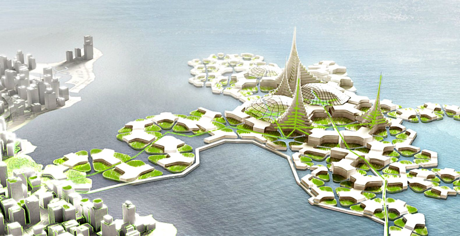 Floating Blue Bold Plan To Expand Dense Cities Into Open