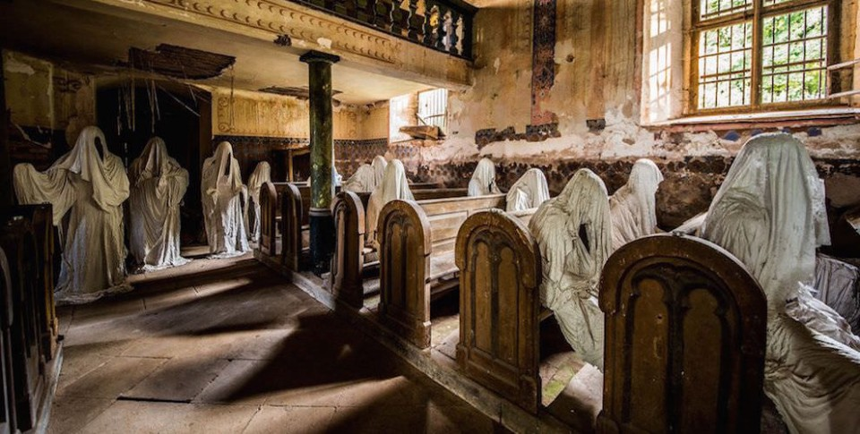 Abandoned Church ghost church: creepy statues invade abandoned czech chapel | urbanist