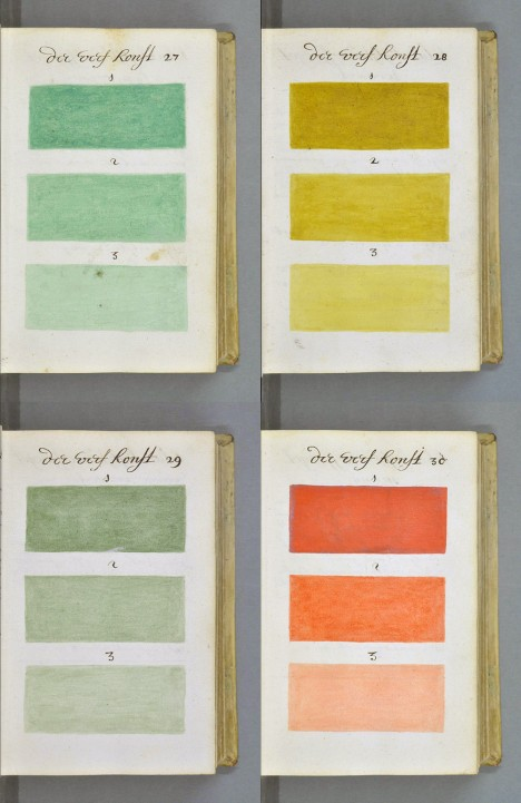 historical dutch watercolor swatches
