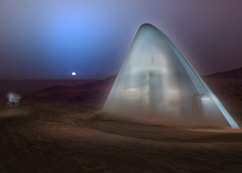 Frontier finalists 30 nasa 3d printed mars habitat for Nasa architecture