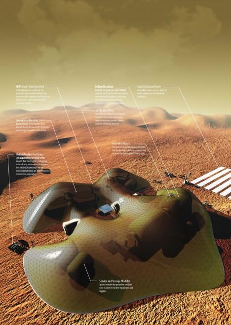 inflatable mars habitat
