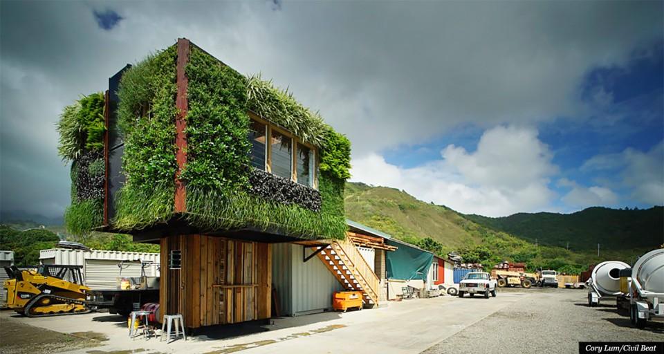 Form Follows Treehouse Tiny Green Canopy Home Tops Wood